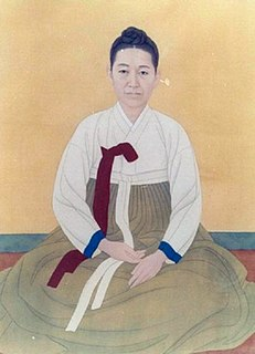 Sin Saimdang calligraphist and noted poet
