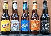 A selection of Shiner beer varieties