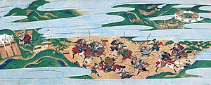 Ōnin War - Painting depicting a battle during the Ōnin War