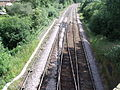 Shirley Station, Haslucks Green Road, Shirley - track switches (4746073643).jpg