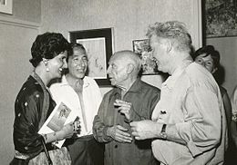 Shoshana at exhibition with Picasso.jpg