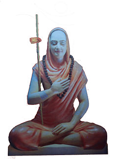 Adi Shankara a proponent of Advaita Vedanta, was born in a Brahmin family, and is credited with unifying and establishing the main currents of thought in Hinduism. Shri Gaudapadacharya Statue.jpg