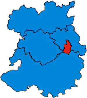 Parliamentary constituencies in Shropshire - Image: Shropshire Parliamentary Constituency 2005Results 2