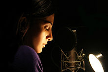 Shruti Haasan TeachAIDS Recording Session.jpg