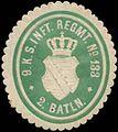 Siegelmarke 9. K.S. Infanterie Regiment Nr. 133 - 2. Bataillon W0351912.jpg