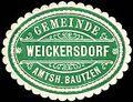 Siegelmarke Gemeinde Weickersdorf - Amtshauptmannschaft Bautzen W0252930.jpg