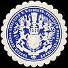 Siegelmarke Grossherzogliche General - Direction der Mecklenburgischen Friedrich - Franz - Eisenbahn W0223186.jpg