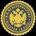 Siegelmarke K.K. Bergverwaltung Klausen in Tirol W0320870.jpg