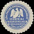 Siegelmarke K.Pr. Grenadier-Regiment Kronprinz Friedrich Wilhelm (2t. Schlesisches) No. 11 Füsilier Bataillon W0346800.jpg