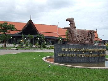 English: Entrance of Siem Reap International A...
