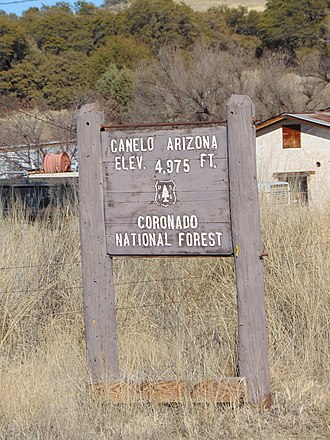 Canelo, Arizona - Image: Sign Canelo Arizona 2015
