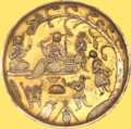 Silver gilt dish Tabaristan 7th 8th century.png