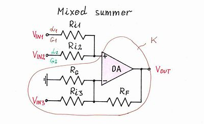 741c Op   Wiring Diagrams together with Op   Cookbook Part 4 moreover Simple Op   Summer Design besides Op   Audio  lifier Wiring Diagrams as well Analog Multiplier Circuit Diagram. on basic op amps circuits