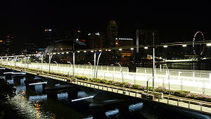 Marina Bay Street Circuit - Image: Singapore grand prix fullerton test