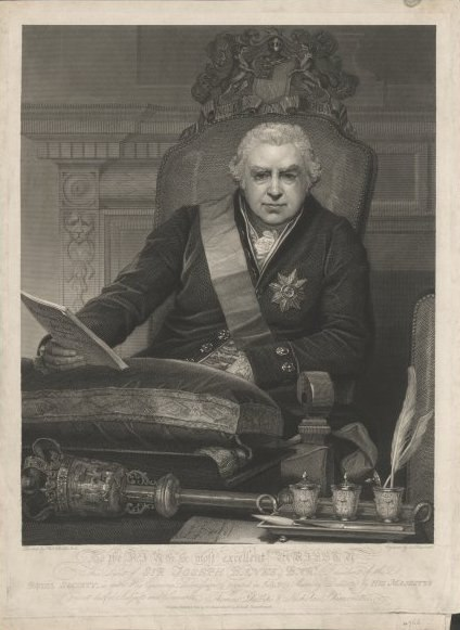 Sir Joseph Banks, president of the Royal Society