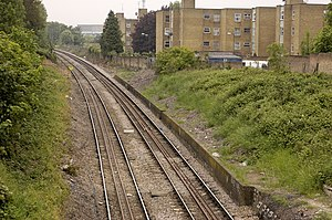 North and West London Light Railway - The freight-only Dudding Hill line, which features in the proposal