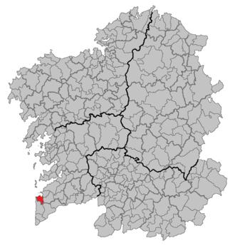 Baiona, Pontevedra - Image: Situacion Baiona
