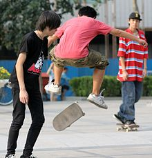 ef86204bc84f Skateboarders in Beijing, China