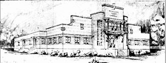 Redcliffe Town Council Chambers - Sketch of proposed Redcliffe Council Chambers, 1940