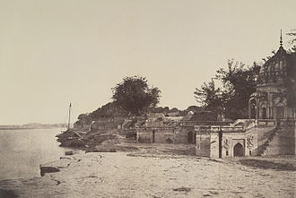 Massacre Ghat - 1858 picture of Sati Chaura Ghat on the banks of the Ganges River.