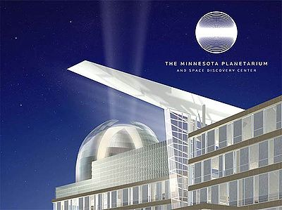 Exterior shot of proposed planetarium.