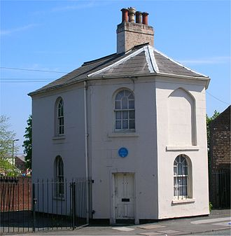 Toll houses of the United Kingdom - Smethwick. What looks like a window opening on the upper floor would hold the tollboard.