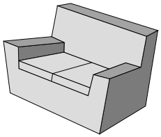 Abstract picture of a Couch.