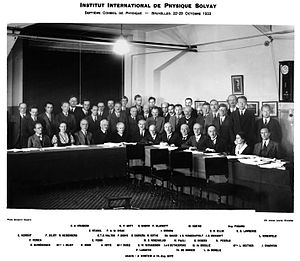 Discovery of the neutron - Seventh Solvay Conference, 1933.