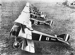 Raymond Collishaw - Triplanes of No. 1 Naval Squadron at Bailleul, France.