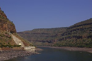 none  Krishna river gorge by Srisailam, Andhra Pradesh, India