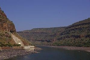Krishna River - Krishna river gorge by Srisailam, Andhra Pradesh, India