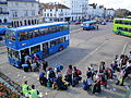 Southern Vectis 4834 M834 MFR and Ryde bus station Bestival 2010 shuttle bus queue.JPG