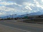 Southwest at the US-40 US-189 & SR-32 junction, Apr 20.jpg