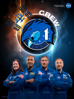 SpaceX Crew-1 poster