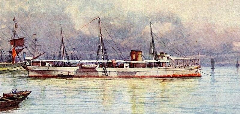 O Navio da Armada Espanhola
