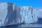 Spectacular Christmas morning cruise through the remants of giant Tabular iceberg B15Y, which is now grounded just off Bransfield Island at the N tip of the Antarctic Peninsula. (25367049124).jpg