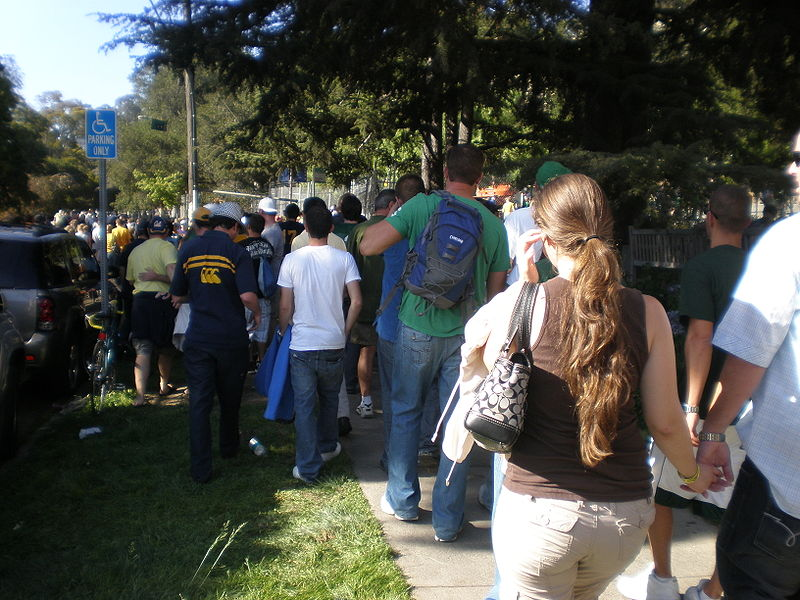File:Spectators en route to MSU at Cal game 8-30-08.JPG