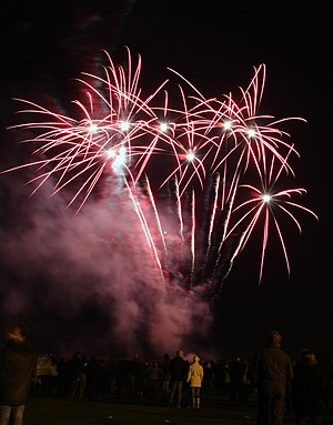 English: Fireworks display, Aykley Heads, Durham