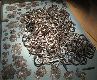 Gotland - A part of the Spillings Hoard at Gotlands Museum.