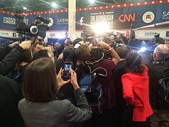 2016 Republican Party presidential debates and forums - Spin room at the Las Vegas debate