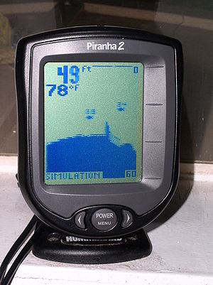 Fishfinder - Display of a consumer type fishfinder