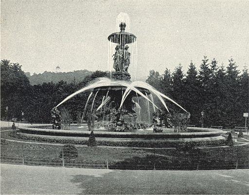 Springbrunnen im Grazer Stadtpark um 1898