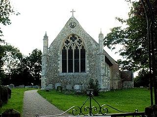 Raydon village in United Kingdom