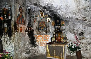 Religion in Abkhazia - St. Simon the Zealot's (Simon Kananaios) cave in Abkhazia