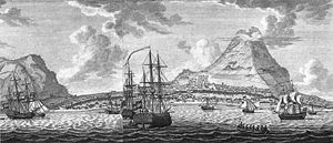 Sint Eustatius - A historical engraving showing the view from out in the Caribbean Sea, approaching the island of Sint Eustatius
