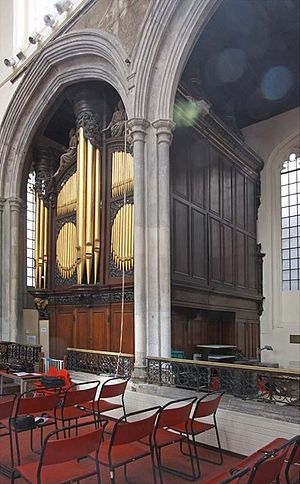St Andrew Undershaft - The organ in St Andrew Undershaft