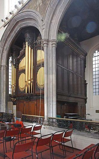 St Andrew Undershaft - The organ in St Andrew Undershaft