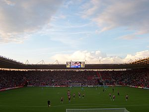 Southampton F.C. - View from the Chapel Stand