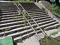 Stairs and rails on the Primate's Island, Esztergom, Hungary.jpg