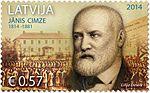 Stamp of Latvia 2014 Jānis Cimze.jpg